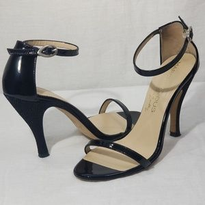 Marchez Vous Justyne Black Patent Leather Heels